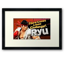 Here Comes A New Challenger! Ryu! Framed Print
