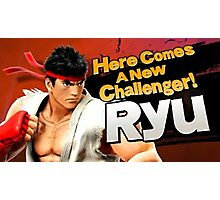 Here Comes A New Challenger! Ryu! Photographic Print