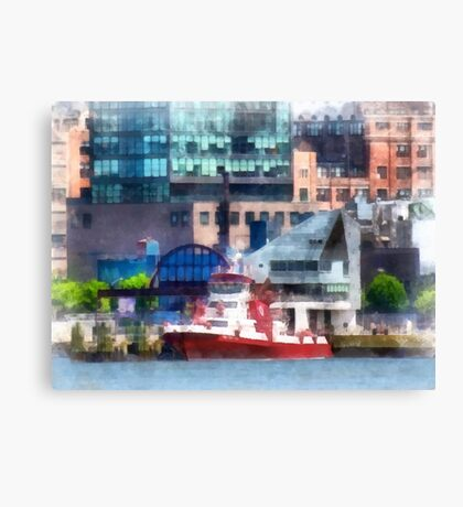 New York Fire Boat Canvas Print