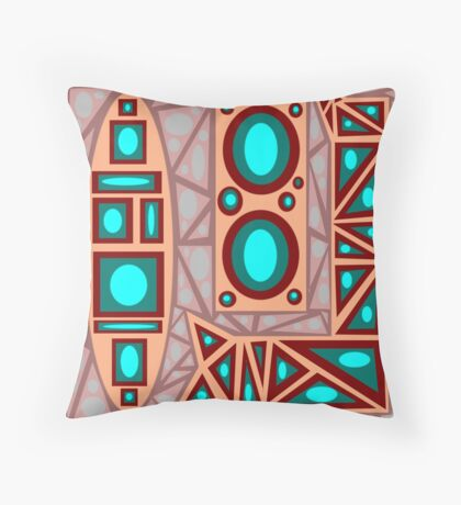 Earthy Worm with Pebbles Throw Pillow