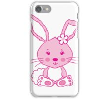 Easter pink bunny rabbit graphic iPhone Case/Skin