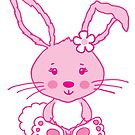 Easter pink bunny rabbit graphic by Sarah Trett