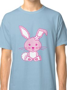 Easter pink bunny rabbit graphic Classic T-Shirt
