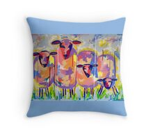 The Picnic Races Throw Pillow