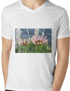 Echinacea Blossoms Mens V-Neck T-Shirt