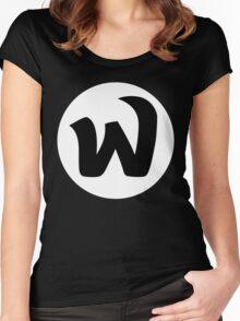EPHWURD BLACK LOGO Women's Fitted Scoop T-Shirt