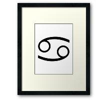 Cancer (Large Design) Framed Print