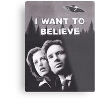 Original Charcoal Drawing of X Files I Want to Believe Metal Print