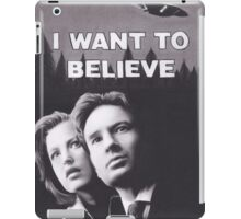Original Charcoal Drawing of X Files I Want to Believe iPad Case/Skin