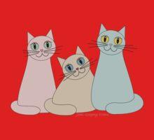 THREE HAPPY CATS Kids Tee