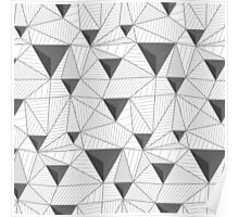 simple pattern of triangles  Poster