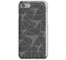 simple pattern of triangles , which are connected to each other filaments are connected to each other , executed in shades of gray, on transparent background iPhone Case/Skin