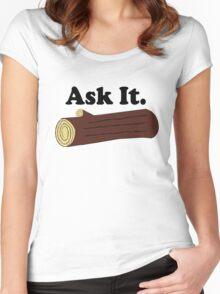 Ask It Log Lady Twin Peaks Women's Fitted Scoop T-Shirt