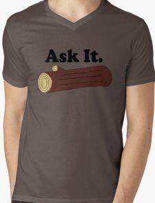 Ask It Log Lady Twin Peaks Mens V-Neck T-Shirt