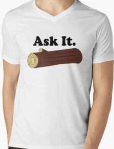 Ask It Log Lady Twin Peaks Mens V-Neck T-Shirt
