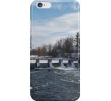 Mill on a river in winter iPhone Case/Skin