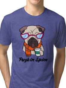Pugkin Spice Tri-blend T-Shirt