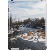 Mill on a river in winter iPad Case/Skin