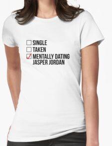 MENTALLY DATING JASPER JORDAN Womens Fitted T-Shirt