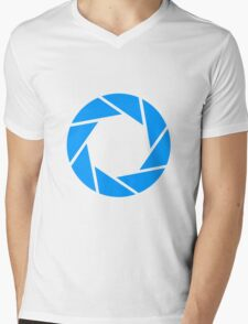 Aperture Science Logo Mens V-Neck T-Shirt