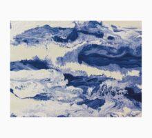 Ocean Waves on Textured Paper Abstract Kids Tee