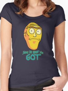 Show me what you got! Women's Fitted Scoop T-Shirt
