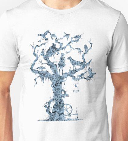 Floral Fairy Tale Tree Unisex T-Shirt