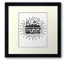 Bernie Sanders in Black Framed Print