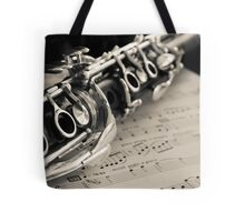 Clarinet ~ Cream Tone Tote Bag
