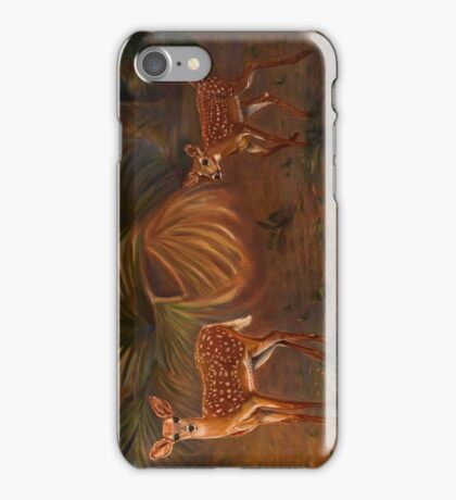 Fawns in the forest iPhone Case/Skin