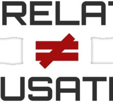 Correlation Causation Sticker