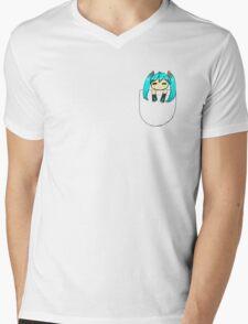 Chibi miku Mens V-Neck T-Shirt