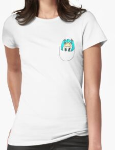 Chibi miku Womens Fitted T-Shirt