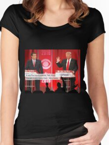 Republican Debate Mystery Science Theater 3000 Mashup Women's Fitted Scoop T-Shirt