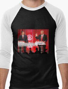 Republican Debate Mystery Science Theater 3000 Mashup Men's Baseball ¾ T-Shirt