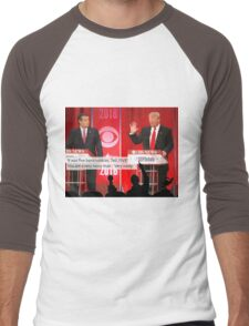 Republican Debate Mystery Science Theater 3000 Mashup Men's Baseball ¾ T-Shirt