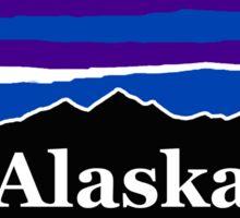 Alaska Midnight Mountains Sticker