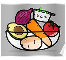 Fruit and Vegetable Bowl Poster
