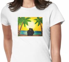 Paradise is for Lovers Womens Fitted T-Shirt