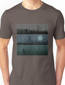 Zombie rise on cemetery when Night Unisex T-Shirt