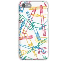 Writing instruments texture background pattern iPhone Case/Skin