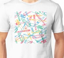 Writing instruments texture background pattern Unisex T-Shirt