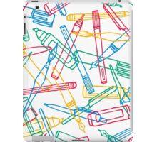 Writing instruments texture background pattern iPad Case/Skin