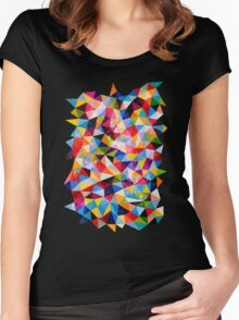 Space Shapes Women's Fitted Scoop T-Shirt