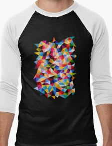 Space Shapes Men's Baseball ¾ T-Shirt