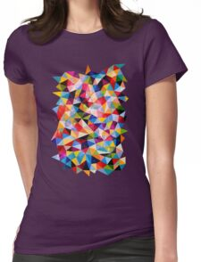 Space Shapes Womens Fitted T-Shirt