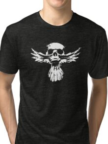 Skull with wing Tri-blend T-Shirt