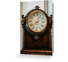 Old Clock On the Mantel Greeting Card