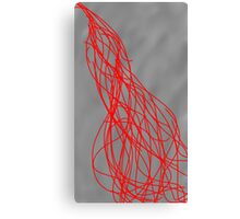 Red on Gray Canvas Print