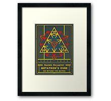 SACRED GEOMETRY METATRON MATRIX Framed Print